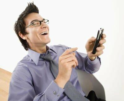 mobil latter på kontor